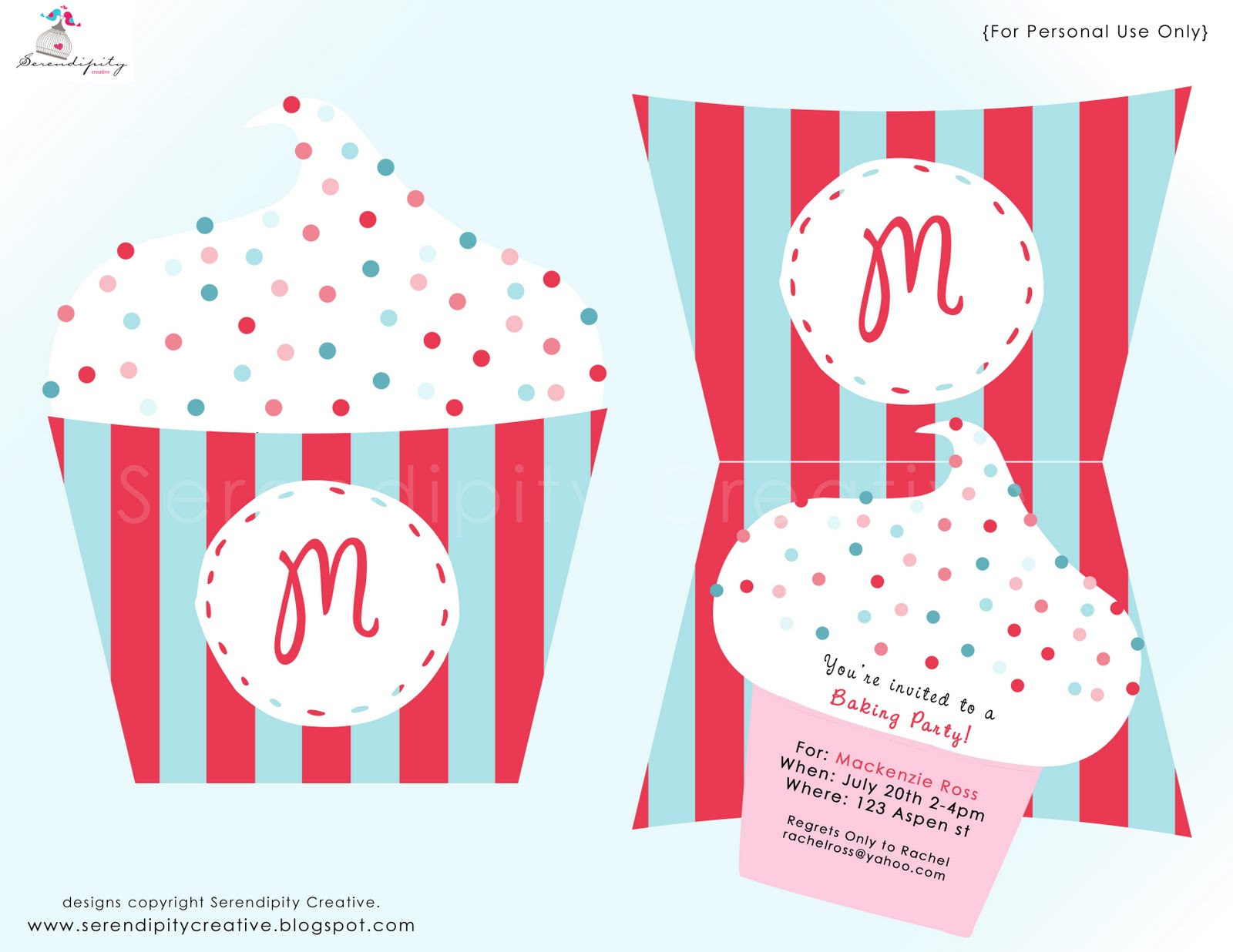 Baking Party Invitations is perfect invitation layout
