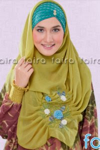 Faira Jilbab BA 375 - Hijau Pupus (Toko Jilbab dan Busana Muslimah Terbaru)