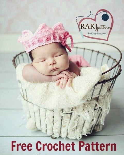 FREE CROCHET PATTERN, crown or tiara crochet pattern, 0-18 months, rakjpatterns
