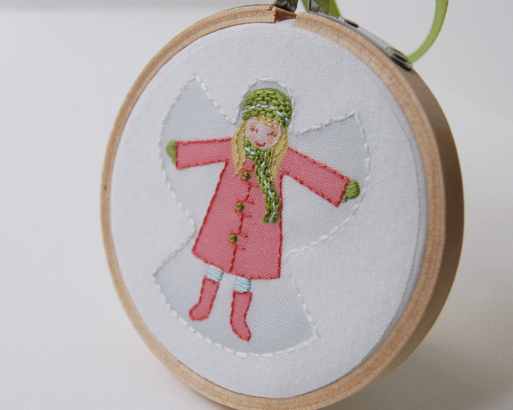 Christmas angel ornament yes the snow angels are back