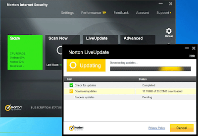 Norton 2013 Internet Security - Interface