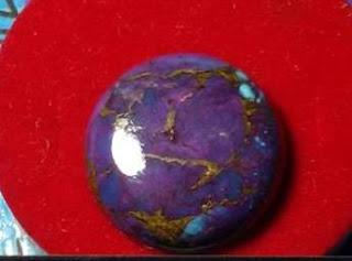 Batu Natural Pyrus (Turquoise) Big Size + Memo