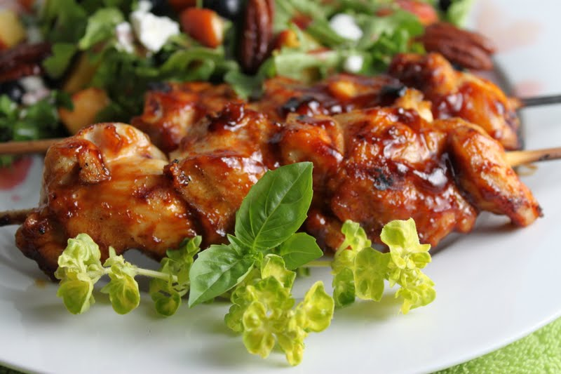 Fabulous Grilled Chicken Kabobs - thecafesucrefarine.com