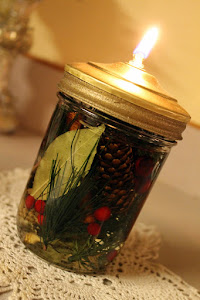 Canning Jar Oil Lamp