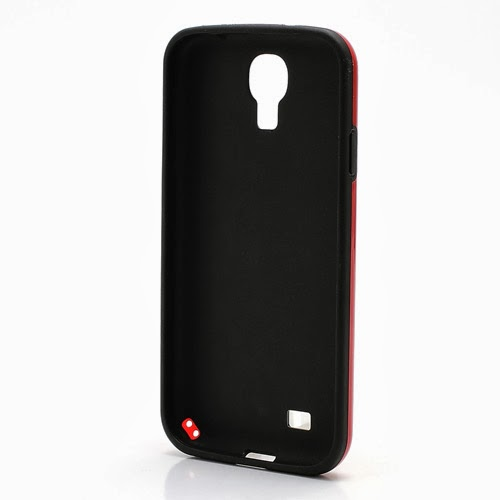 Cool 3D Cube Texture TPU Case for Samsung Galaxy S 4 IV i9500 i9505 - Black / Red