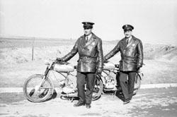 Policías municipales motorizados de Leganés. (1971)