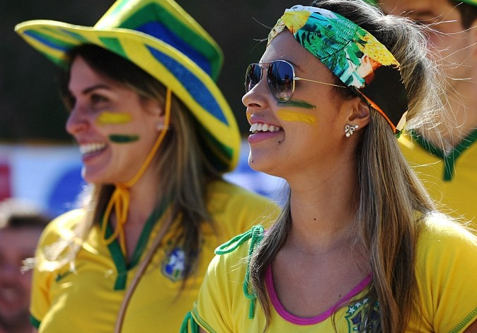 Brazilian Supporter in World Cup 2014 Ceremony Match