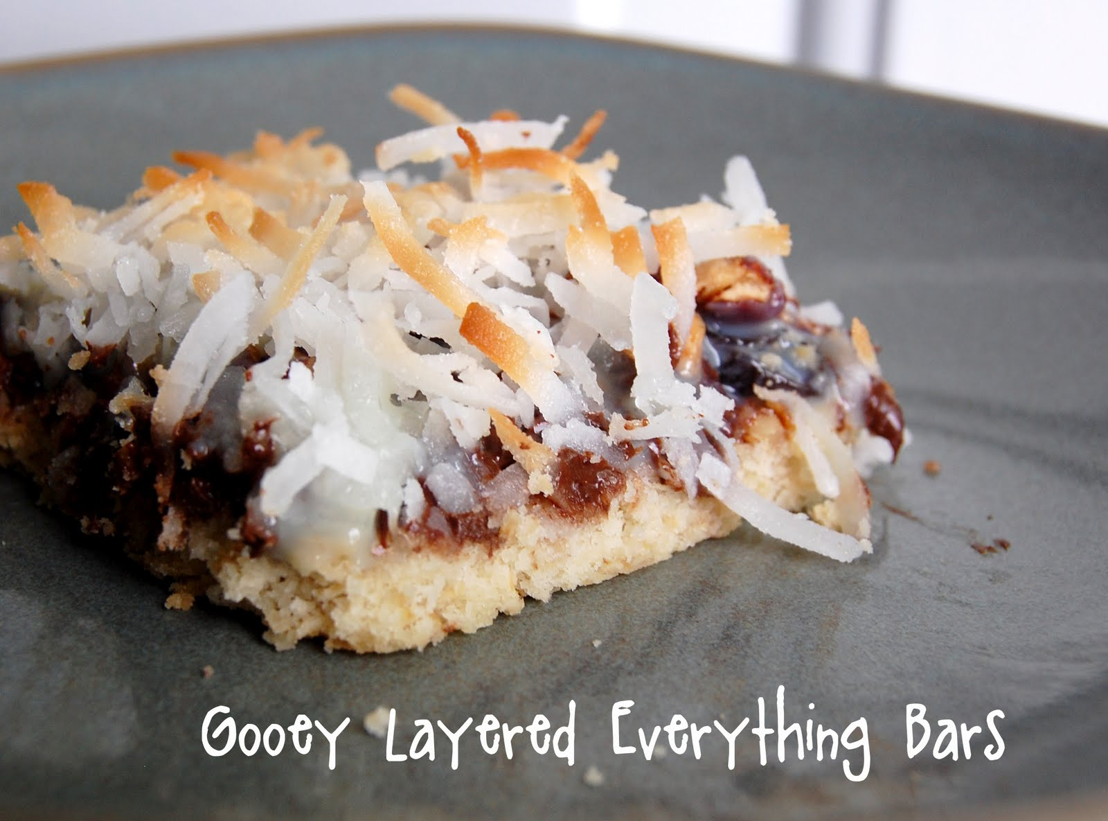 ... We Learned to Live, Love, and Cook: Gooey Layered Everything Bars