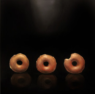 glazed doughnut painting original realism by jeanne vadeboncoeur
