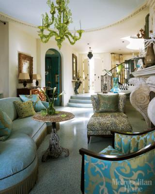 Dixon brings a seasoned sensibility, layering color, pattern and decorative  objects, in each of his client's interiors.