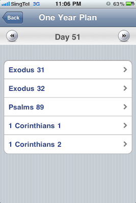 Daily Bible Reading iPhone App