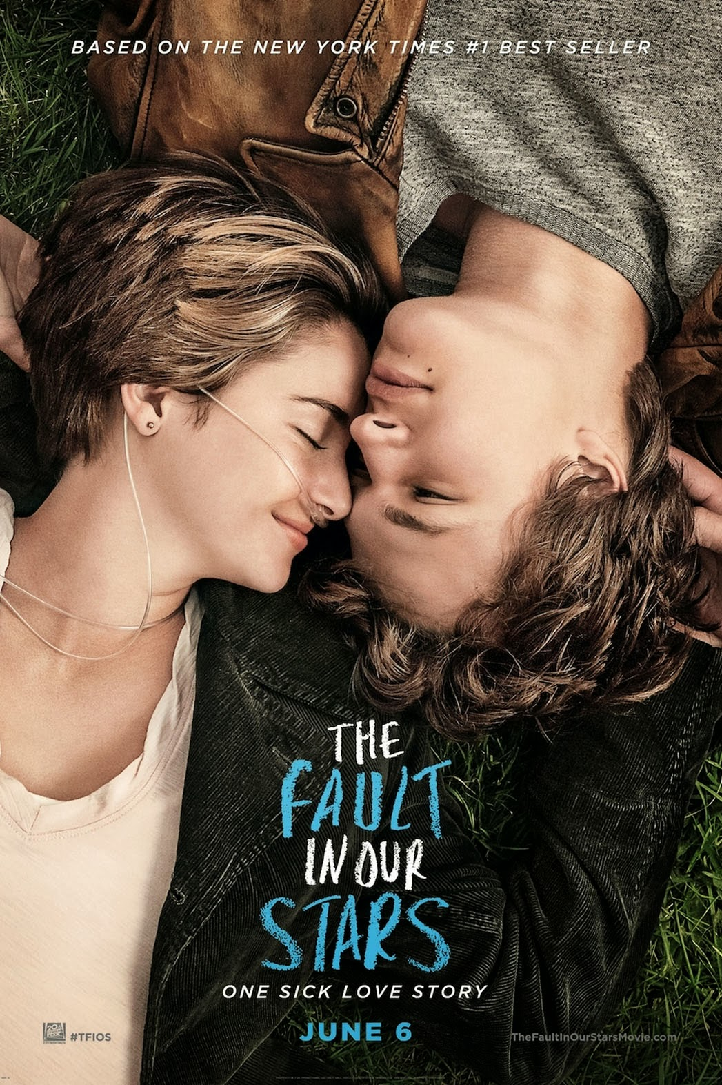 The Fault in Our Stars Movie Poster, Hazel and Augustus, Shailene Woodley and Ansel Elgort