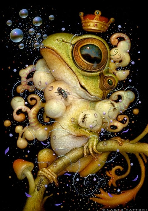 24-The-Frog-Prince-Naoto-Hattori-Dream-or-Nightmare-Surreal-Paintings-www-designstack-co