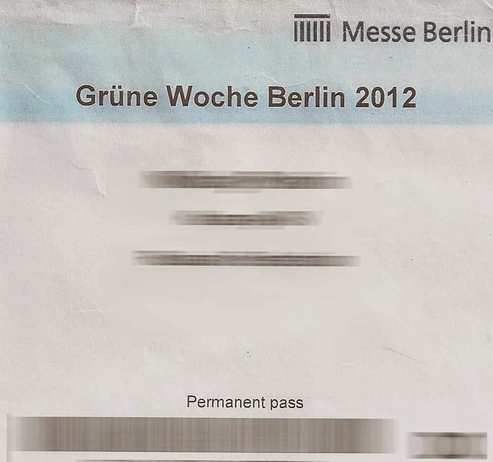 Permanent pass für die Grüne Woche
