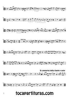 2 Partitura de Viola Lágrimas negras. Partitura de Lágrimas Negraspara Viola by Sheet Music for Viola Black Tears Music Scores