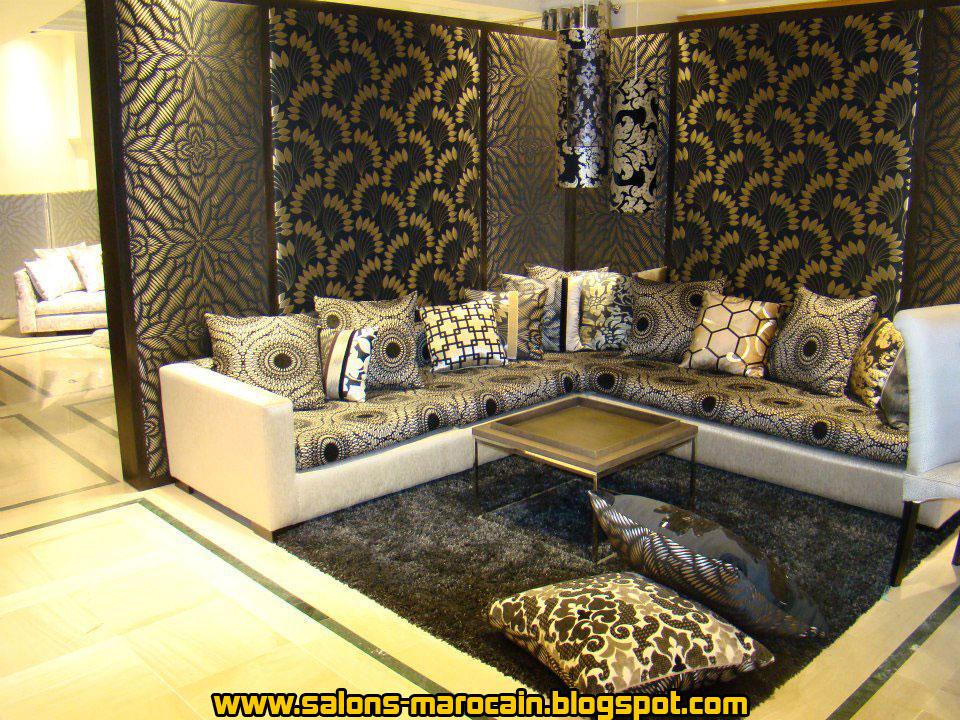 salons marocains moderne - Decoration Salon Moderne 2013 En Marron