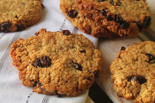 healthy oat and raisin cookies