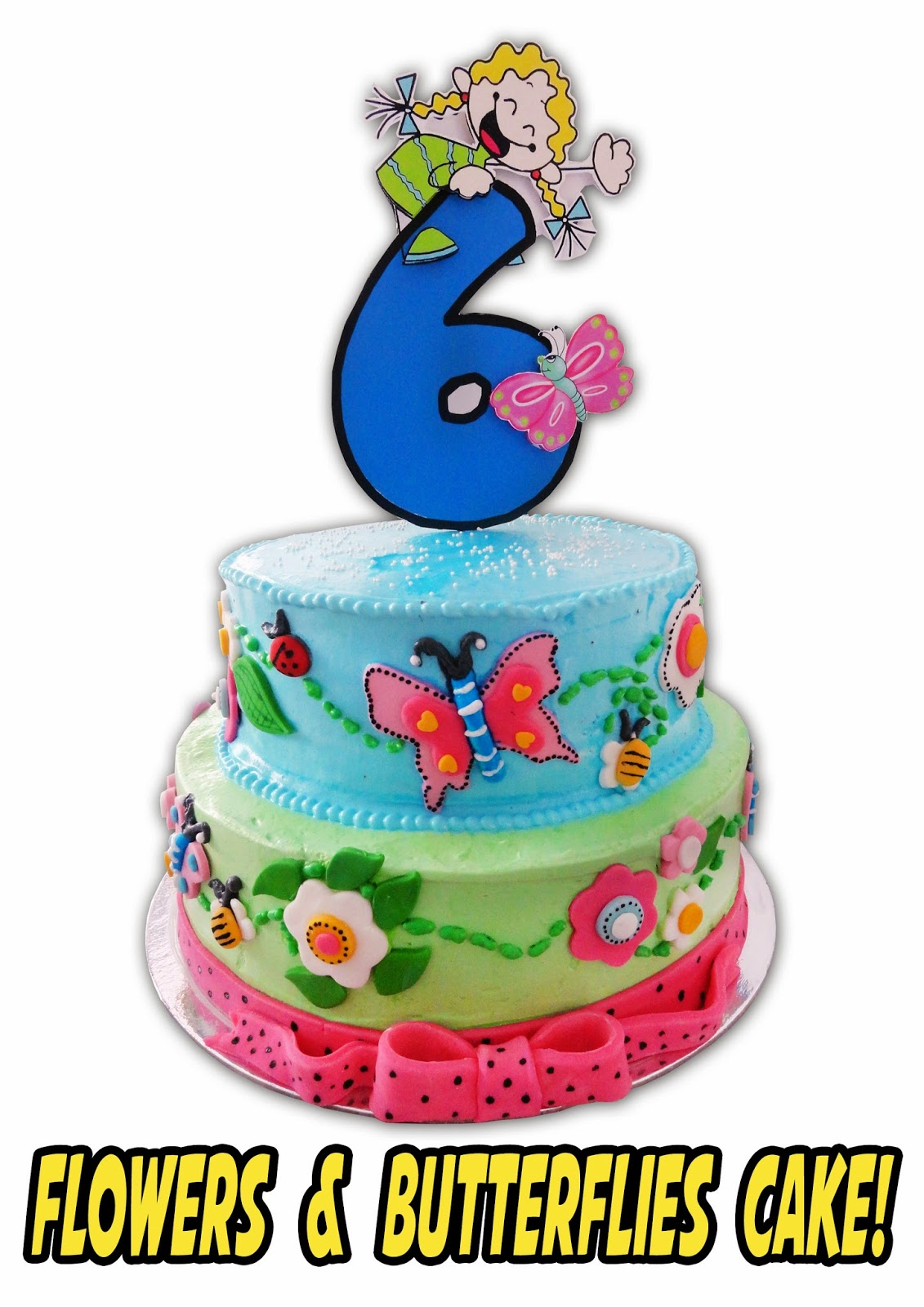 Popcakes flowers and butterflies cake flowers and butterflies cake for more info call us at 02 7106791 or send an sms to 0917 5860837 izmirmasajfo