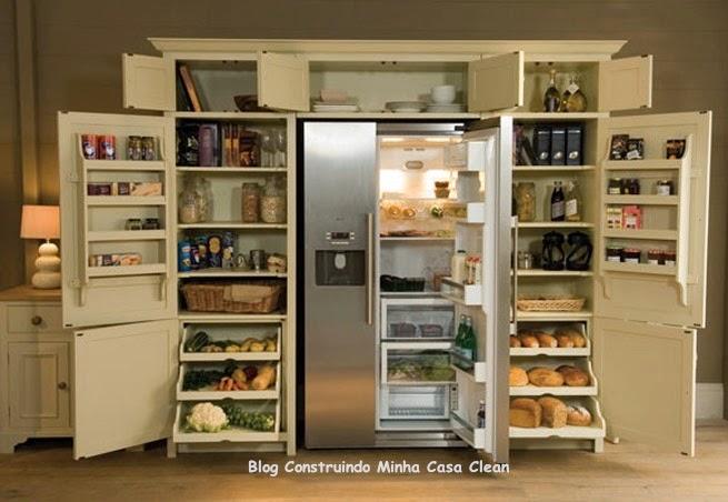 Construindo minha casa clean despensas de cozinhas lindas - Mueble despensa cocina ...