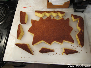 cool cake pattern, cut out, store bought cake, shape