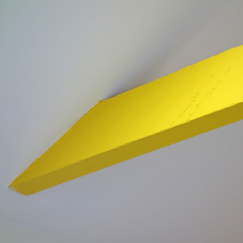 Yellow painted beam