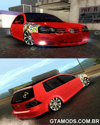 Vw Golf GTI 2008 Sticker Bombs