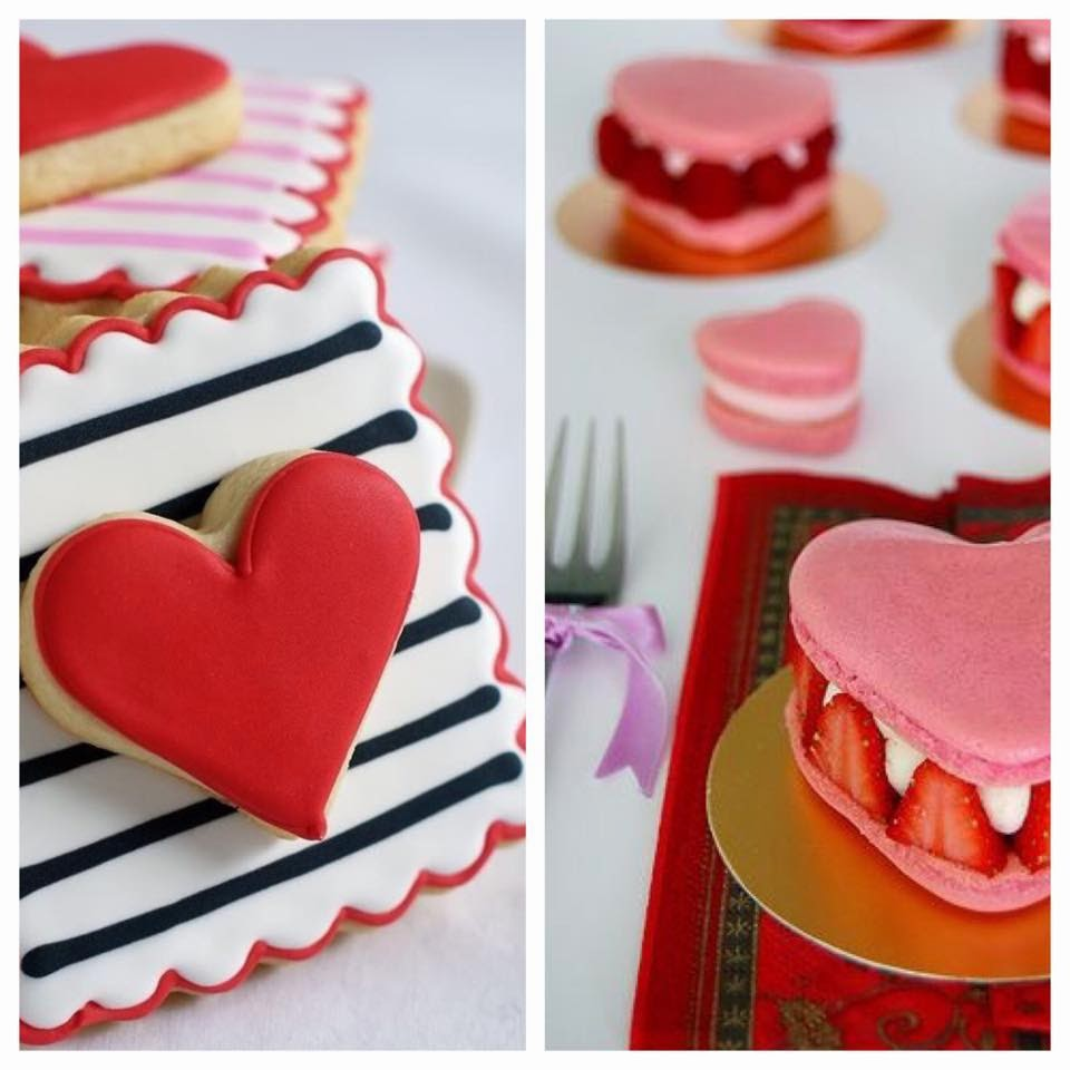 valentines day cookies and sweets