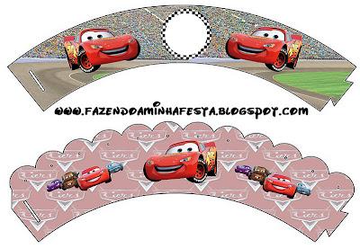 Bases para cupcakes imprimibles gratis de Cars