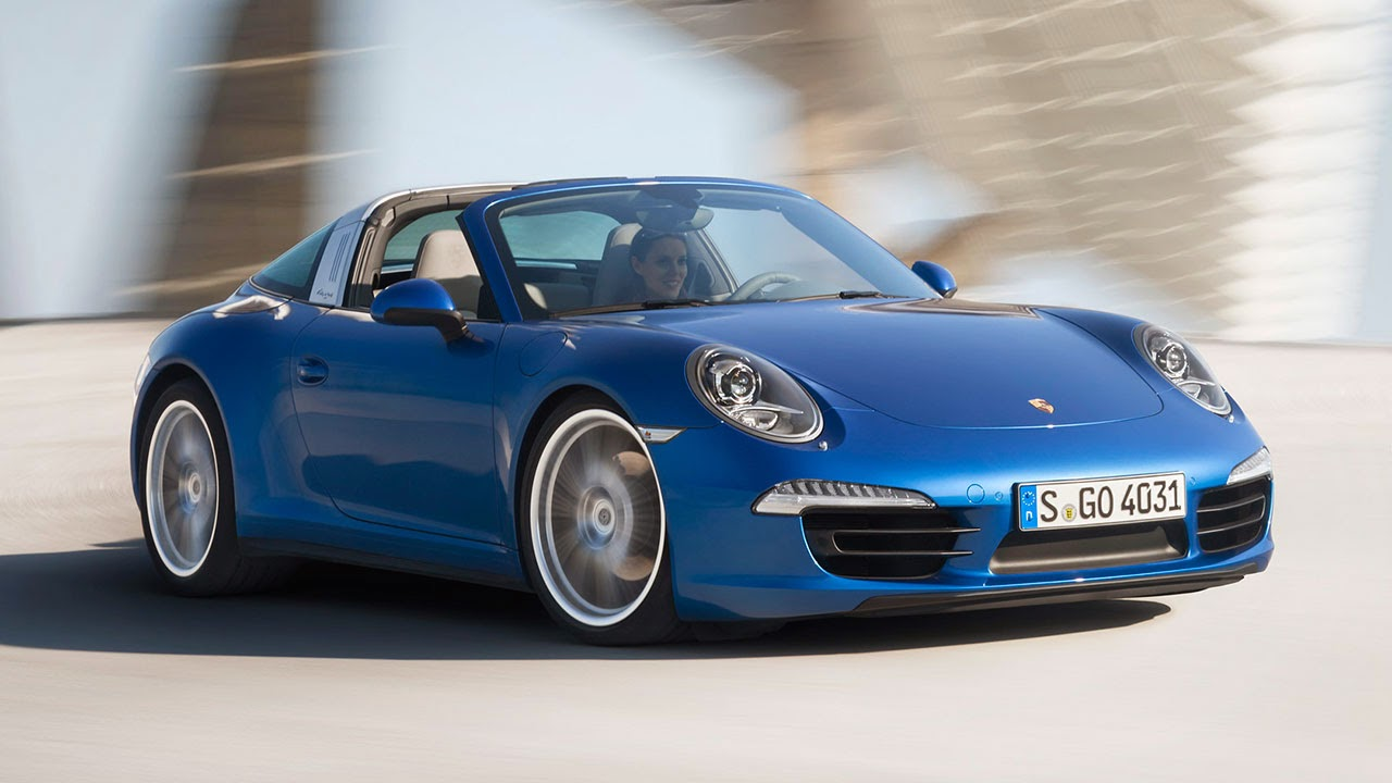 The 2014 Porsche 911 Targa 4 front