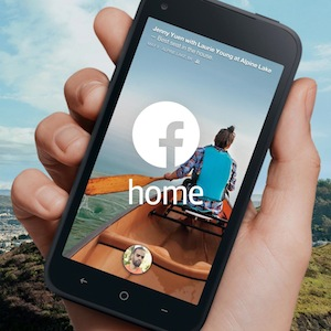 Facebook home available HTC and Samsung