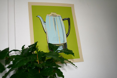 Affiche Coffee Pot Green