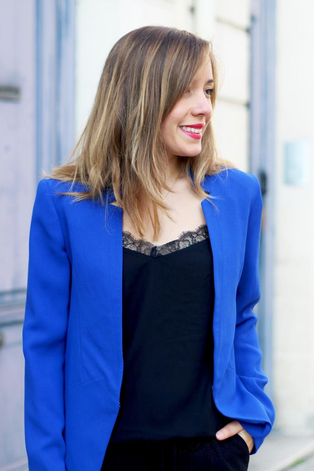 Blazer fluide bleu