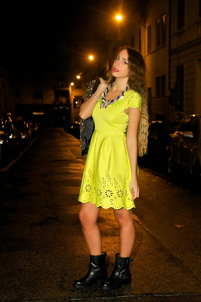 abito neoprene giallo