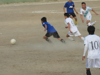 Scene from one of the quarterfinal matches played on Monday.