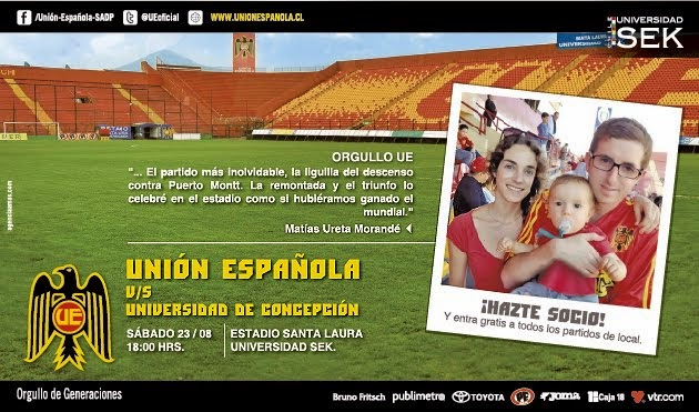 Este sabado a las 18 Horas.....U.E vs. UNIVERSIDAD DE CONCEPCION (Torneo de Apertura 2014