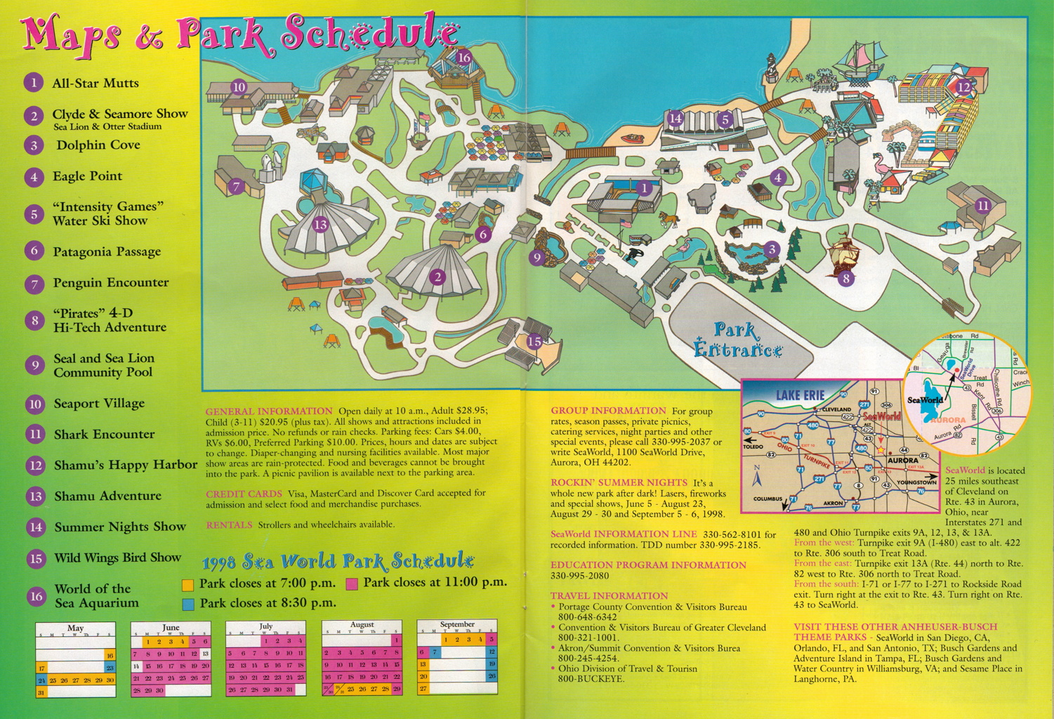 Newsplusnotes from the vault seaworld ohio 1998 trip planner gumiabroncs Image collections