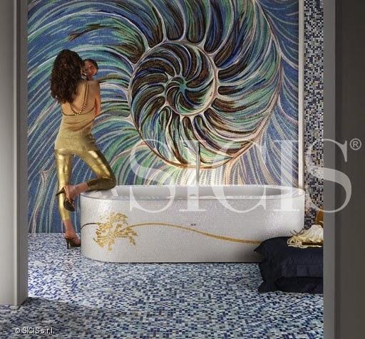 Vẻ đẹp độc nhất vô nhị của phòng tắm đá khảm
