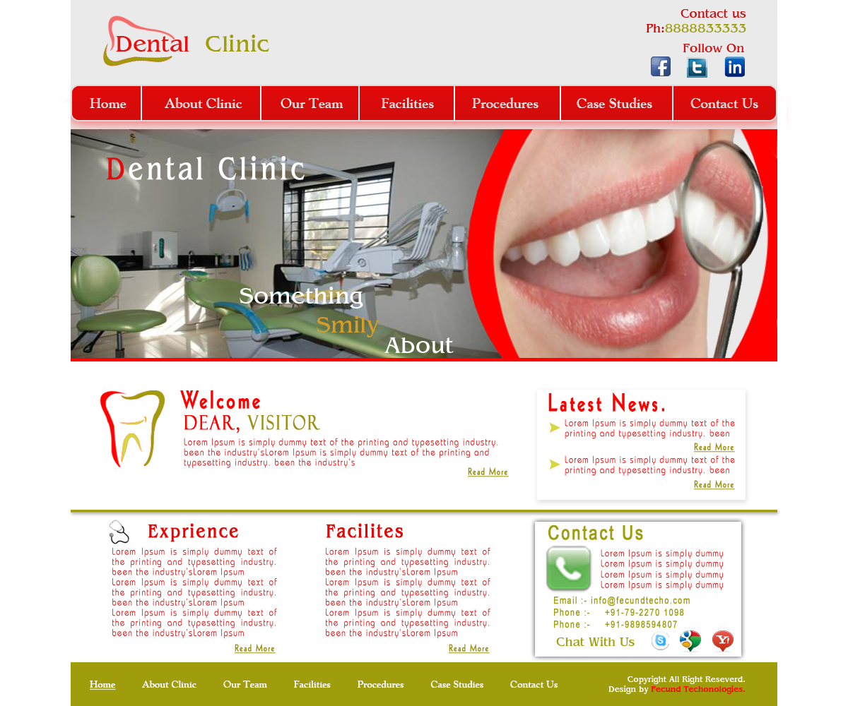 Website Design for Dental Clinic | Fecund Technologies Private Limited