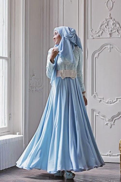 Model gaun pesta muslim modern