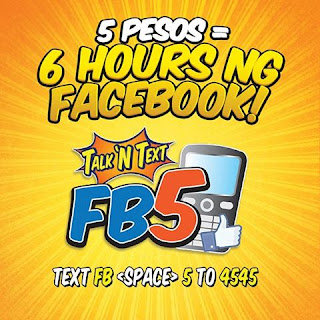 Talk N Text FB 5 promo