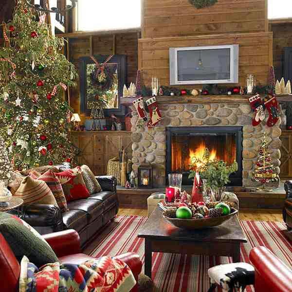 Aranżacja wnętrza w świątecznym klimacie