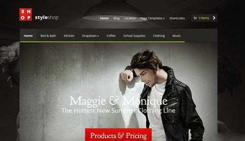 StyleShop ElegantThemes Wordpress Theme Version 1.0 free