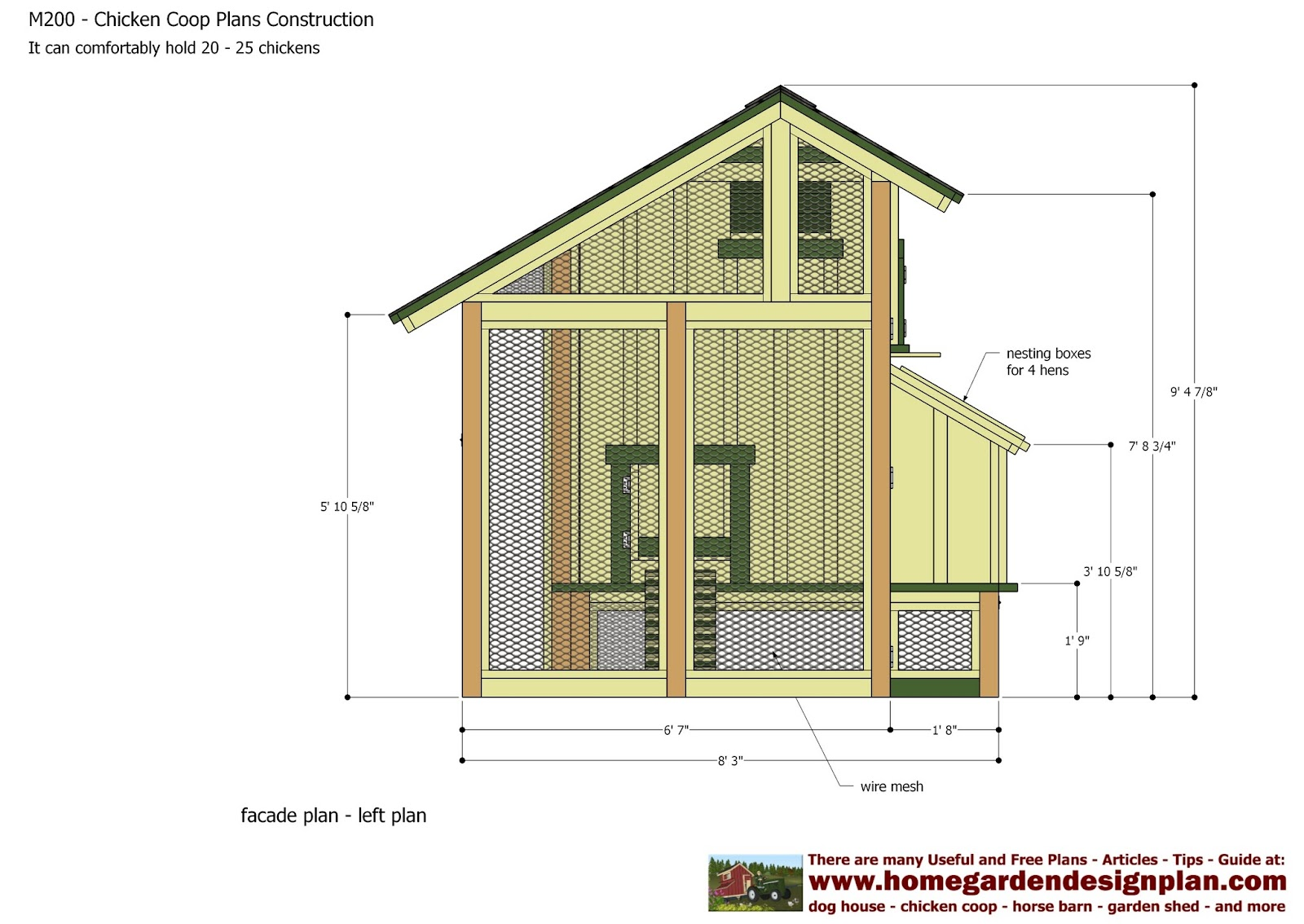 Printable chicken coop plans for Poultry house plans for 100 chickens