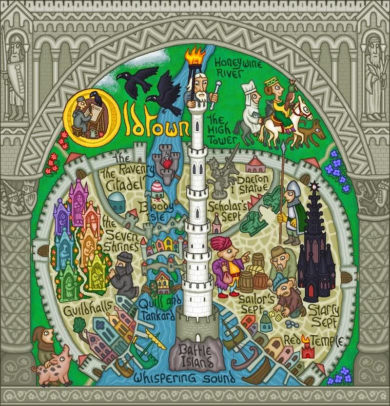 Mapa de Old Town, Canción de Hielo y Fuego