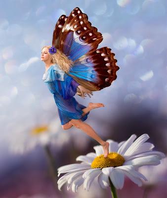 Imágenes fantásticas presenta a su mujer mariposa