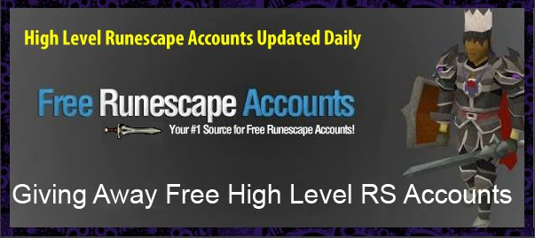 Free RS Accounts!