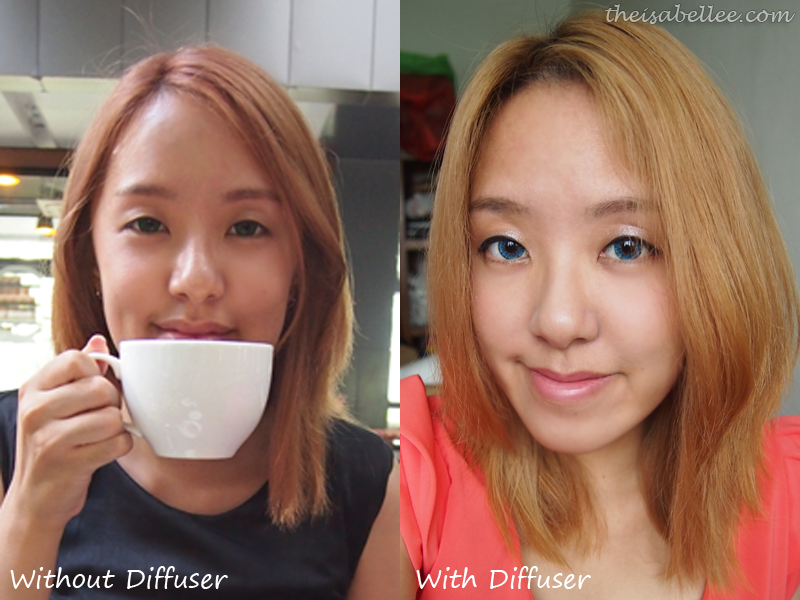 Results from using diffuser