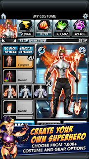 Screenshots of the Supreme Heroes for Android tablet, phone.