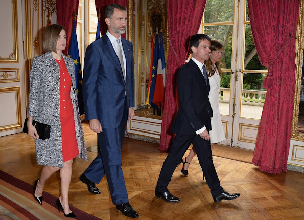 Lunch hosted by french Prime Minister Manuel Valls at the Hotel Matignon