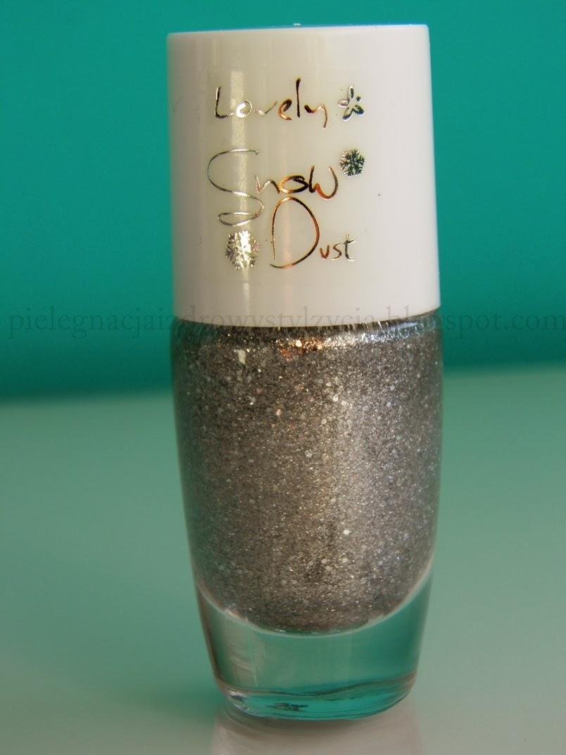 Lovely Snow Dust 03 - srebrny, śnieżny pył na paznokciach